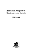 Sectarian Religion in Contemporary Britain