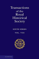 Transactions of the Royal Historical Society: Volume 8