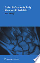 Pocket Reference To Early Rheumatoid Arthritis Book PDF