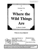 A Literature Unit For Where The Wild Things Are By Maurice Sendak Book PDF