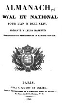 Almanach royal et national