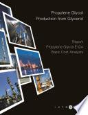 Propylene Glycol Production from Glycerol - Cost Analysis - Propylene Glycol E12A