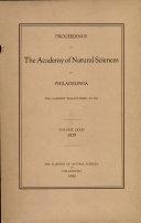 Proceedings of The Academy of Natural Sciences (Vol. LXXXI, 1929) [Pdf/ePub] eBook