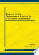 Engineering and Technological Solutions for Sustainable Development Book