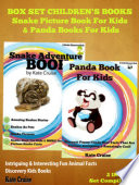 Animals Books For Kids  Mysterious Snakes   Cute Pandas