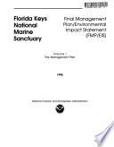 Florida Keys National Marine Sanctuary Comprehensive Management Plan  Monroe County
