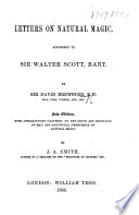 Letter on Natural Magic  addressed to Sir Walter Scott  Bart