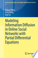 Modeling Information Diffusion in Online Social Networks with Partial Differential Equations