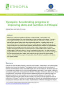 Synopsis  Accelerating progress in improving diets and nutrition in Ethiopia
