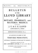 Bulletin Of The Lloyd Library Of Botany Pharmacy And Materia Medica No 7 1903