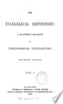 The Evangelical repository  Vol  1  new Book
