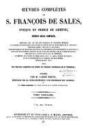 Oeuvres complètes de S. François de Sales, évêque et prince de Genève ebook