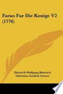 Farao Fur Die Konige V2 (1776)