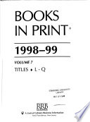 Books in Print 1998-99