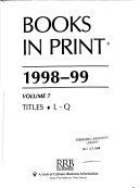 Books in Print 1998 99