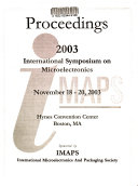 2003 International Symposium on Microelectronics