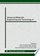 Advanced Materials Engineering And Technology Ii Book PDF
