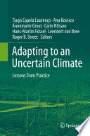 Adapting to an Uncertain Climate Book