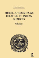Pdf Miscellaneous Essays Relating to Indian Subjects Telecharger