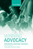 Cover of Winning Advocacy