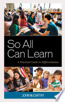 So All Can Learn Book