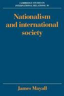 Nationalism and International Society