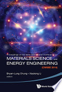 Materials Science and Energy Engineering  CMSEE 2014