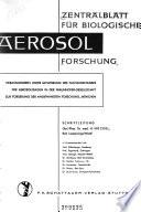 Zentralblatt fur biologische aerosol-forschung