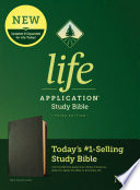 NLT Life Application Study Bible  Third Edition  Genuine Leather  Black
