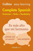 Cover of Easy Learning Complete Spanish Grammar, Verbs and Vocabulary (3 Books in 1)