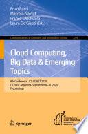 CLOUD COMPUTING, BIG DATA & EMERGING TOPICS