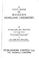 A Text Book Of Modern Inorganic Chemistry Book PDF