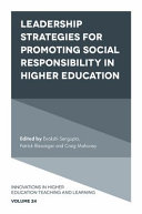 Leadership Strategies for Promoting Social Responsibility in Higher Education
