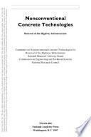 Nonconventional Concrete Technologies