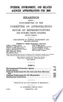 Interior, Environment, and Related Agencies Appropriations for 2009