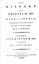 The History of Charles the XIIth  King of Sweden