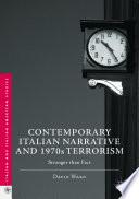 Contemporary Italian Narrative and 1970s Terrorism