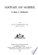 Sanctuary and Sacrifice Book PDF