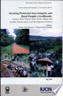 Securing Protected Area Integrity And Rural People S Livelihoods