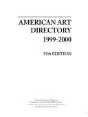 American Art Directory 1999 2000