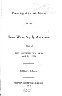 Proceedings Of The Meeting Of The Illinois Water Supply Association