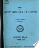 Index of Military Specifications and Standards