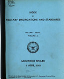 Pdf Index of Military Specifications and Standards
