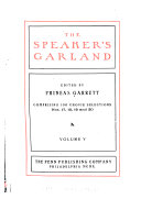 The Speaker's Garland and Literary Bouquet
