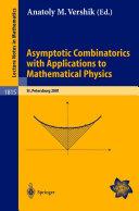 Asymptotic Combinatorics with Applications to Mathematical Physics Pdf/ePub eBook