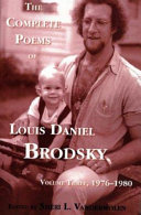 The Complete Poems of Louis Daniel Brodsky: Volume One, 1963-1967