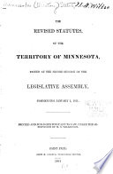 The Revised Statutes of the Territory of Minnesota Book