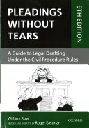 Cover of Pleadings Without Tears