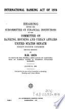 International Banking Act Of 1976