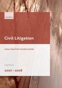 Civil Litigation 2007-2008